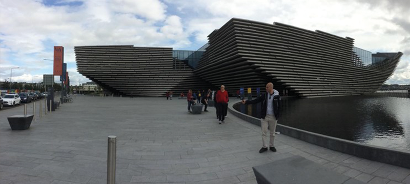 Exterior of the V&A Museum in Dundee.