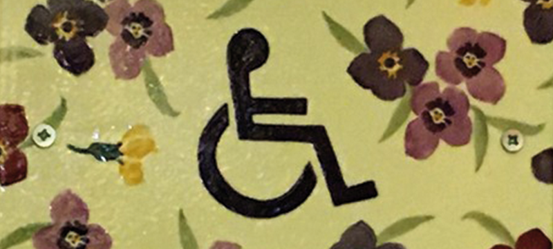 Sign for the accessible toilet