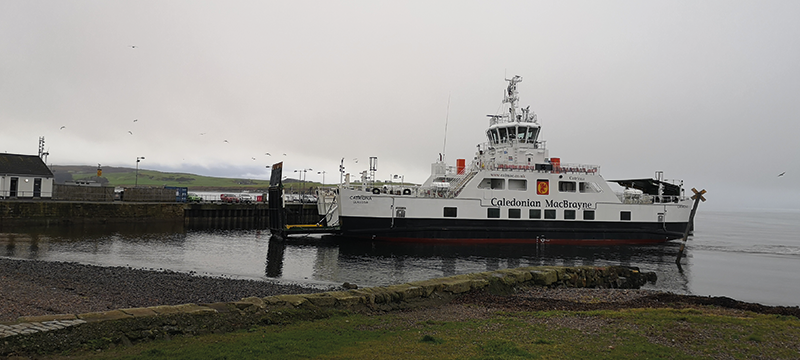 Image of ferry boat in Largs that will take you to Milport