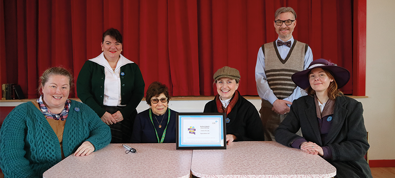 Image of the award with the team at Beamish, the Living Museum of the North