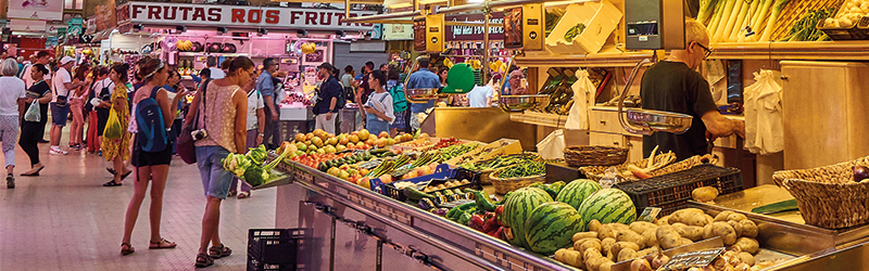 Image of the central market in Valencia