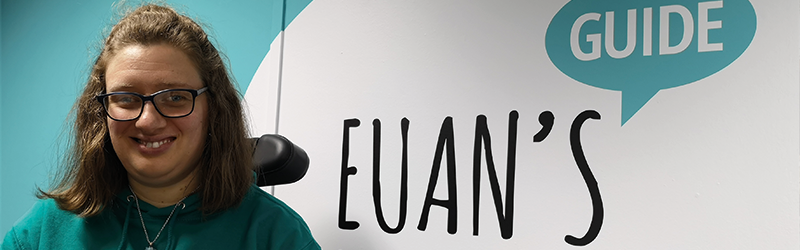 Image of Zoe next to the Euan's Guide logo