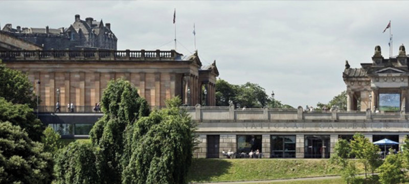 Exterior image of the Scottish National Gallery in Edinburgh