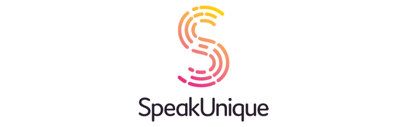 SpeakUnique logo against a white background.