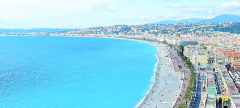 Image of the coast of Nice