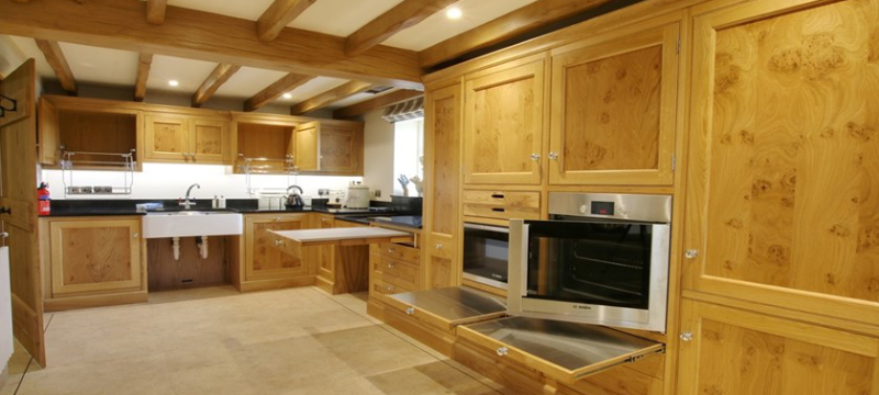 Large kitchen at Cottage in the Dales
