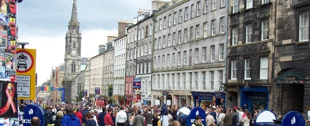 A photo of Edinburgh taken during the festival.