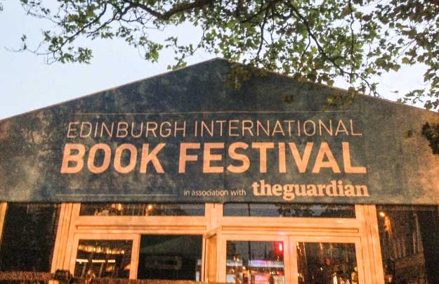 A photo of the entrance to the Book Festival