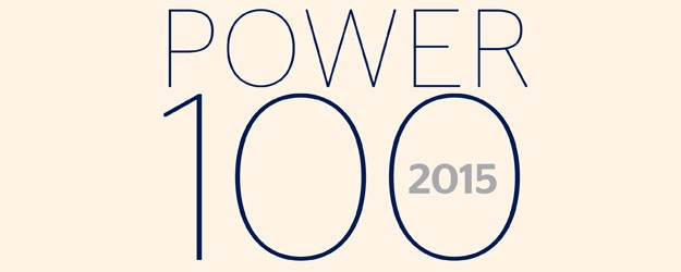 A graphic which says Power 100 2015.