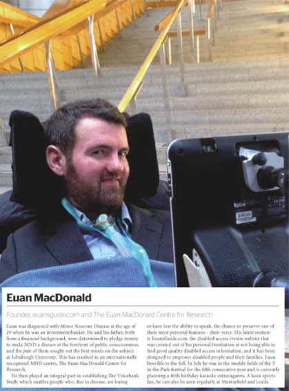 A photo of Euan's page in the magazine