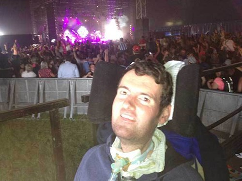 A photo of Euan at T in the Park