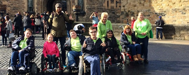 A group photo of Whizz-Kidz in Edinburgh.