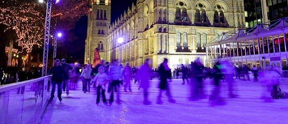 Photo of ice skaters.
