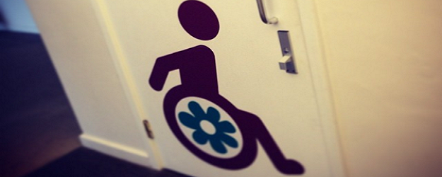 Photo of an accessible toilet sign.