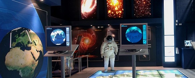 Photo of a space exhibit at Armagh Planetarium.