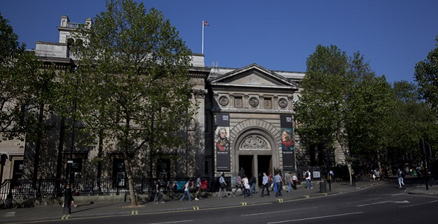 Photo of the National Portrait Gallery in London.