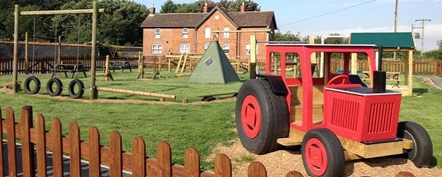 Photo of a tractor play park.
