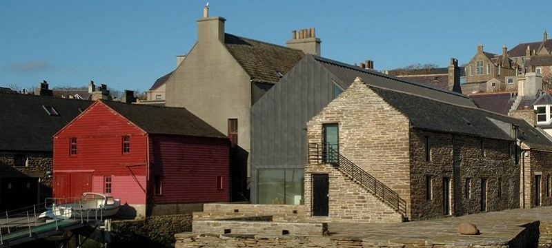 Photo of buildings in Stromness.