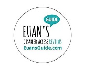 Photo of Euan's Guide car sticker.