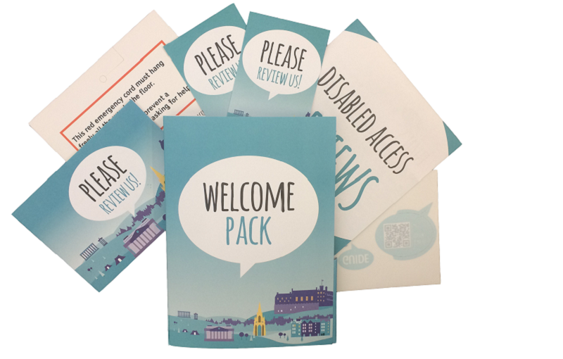 Photo of the welcome pack.