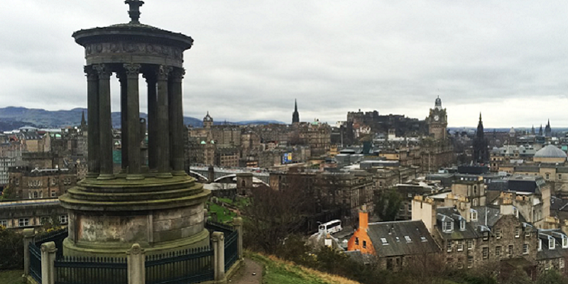 Photo of Edinburgh skyline.