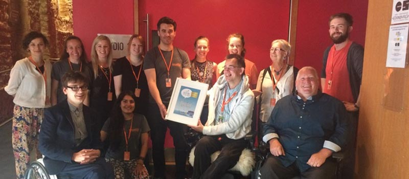 Dance Base - highly commended in Accessible Edinburgh Festival Award