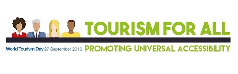 World Tourism Day logo.