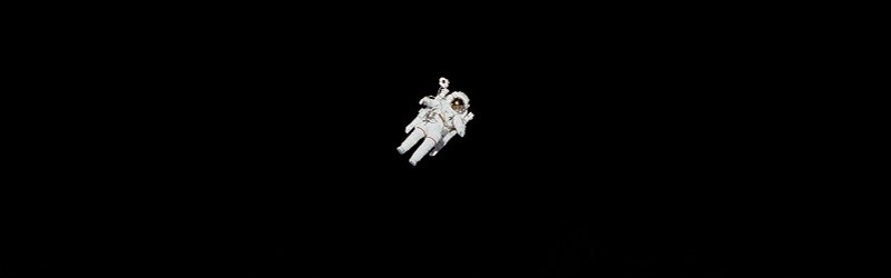 Photo of an astronaut in space.