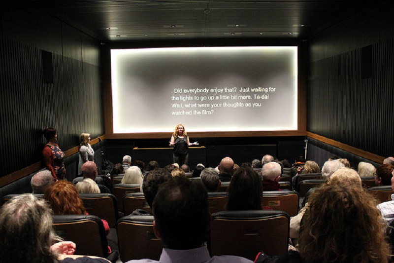 Photo of a screening.