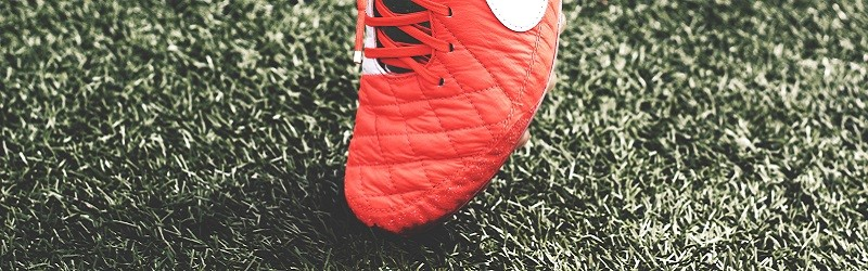 Photo of a football boot.