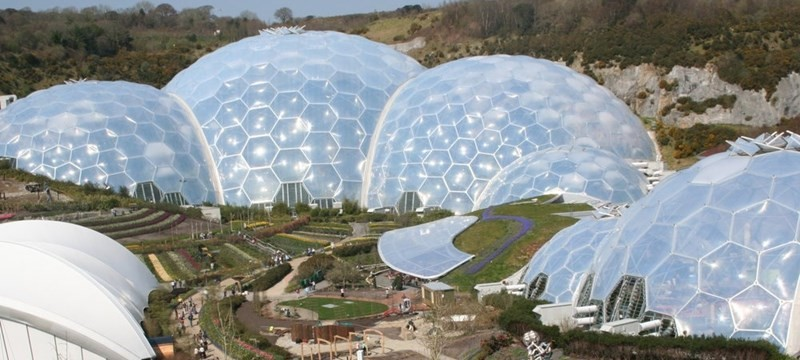 Photo of the Eden Project.