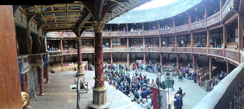 Photo of Shakespeare's Globe Theatre.