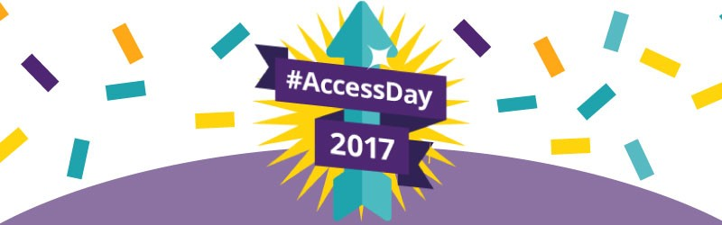 #AccessDay badge.