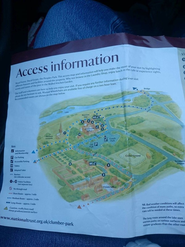 Clumber Park Map Clumber Park with Disabled Access   Worksop   Euan's Guide