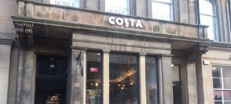 Costa Coffee George Street Cafe With Disabled Access