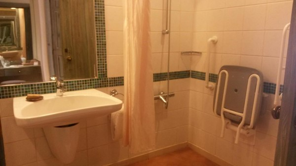 Bathroom in wheelchair accessible rom