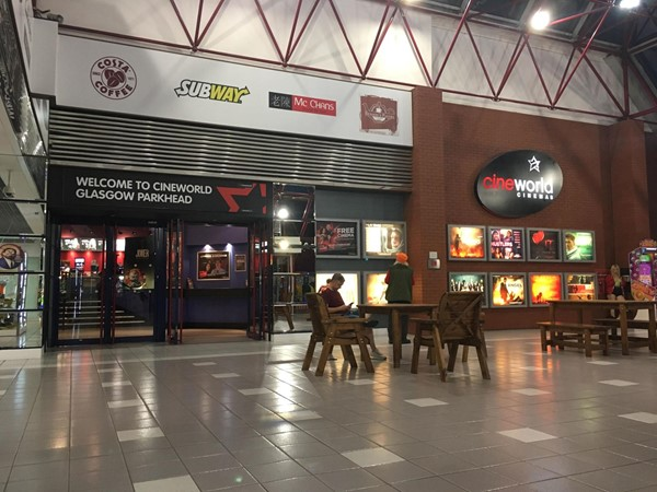 Image of the entrance to Cineworld.