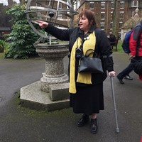 Leading a guided walk for Baker Street Quarter Partnership