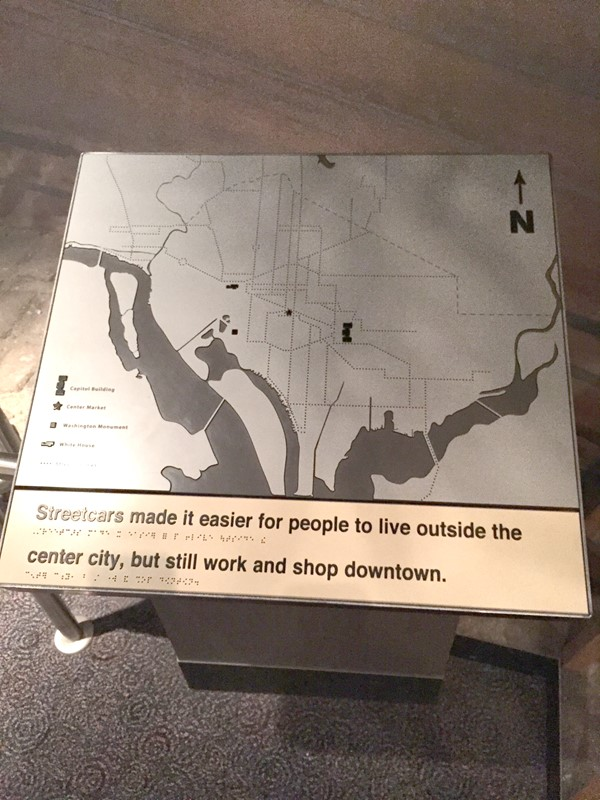 Picture of Museum of American History -  Braille map