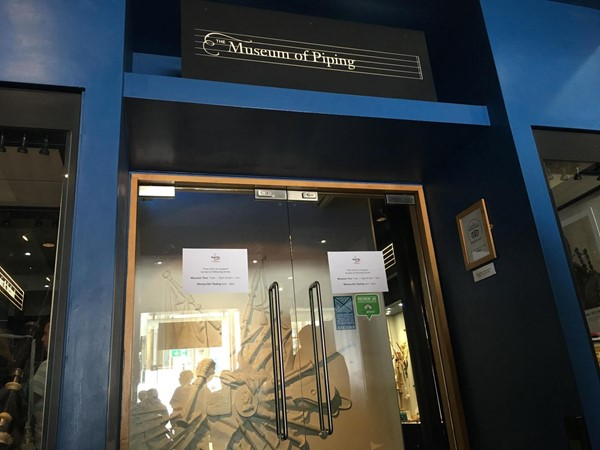 Image of the entrance to The National Piping Museum.