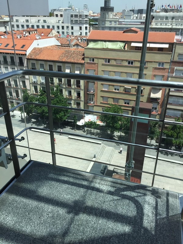 View from the glass lifts at the Reina Sofia Museum