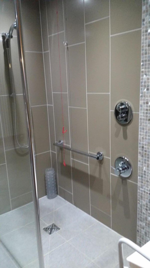 Picture of the Midland Hotel - Stylish accessible shower with chair