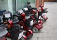 Picture of High Wycombe Shopmobility- Line of Mobilty Scooters