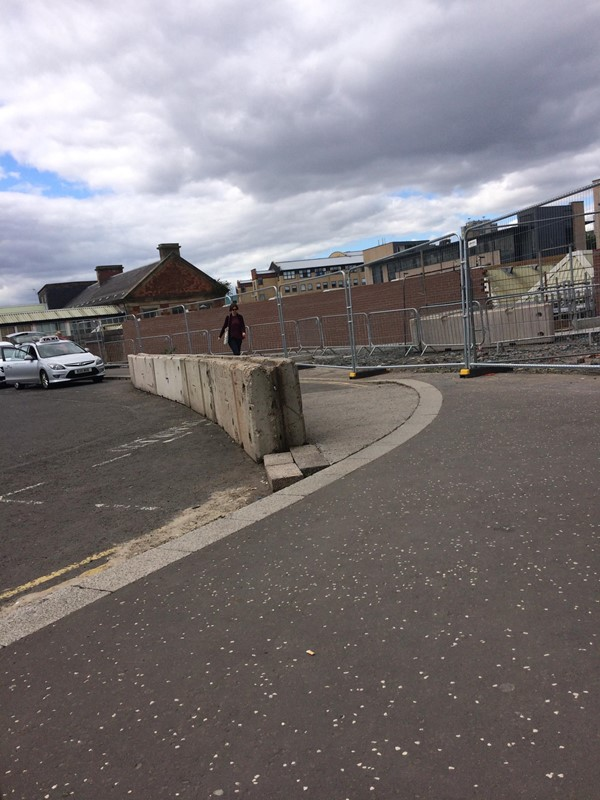 Disabled car park space which used to be here but has been taken away to make pathway wider.