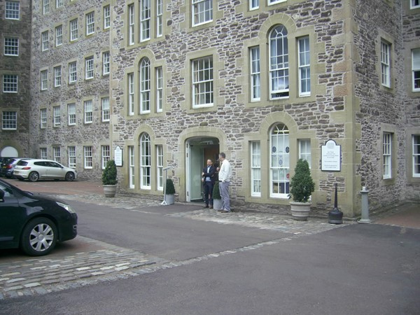 Photo of the entrance and car park.