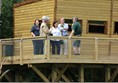 Staff and award judges in on the tower hide.
