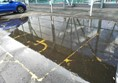 The flooded parking bays