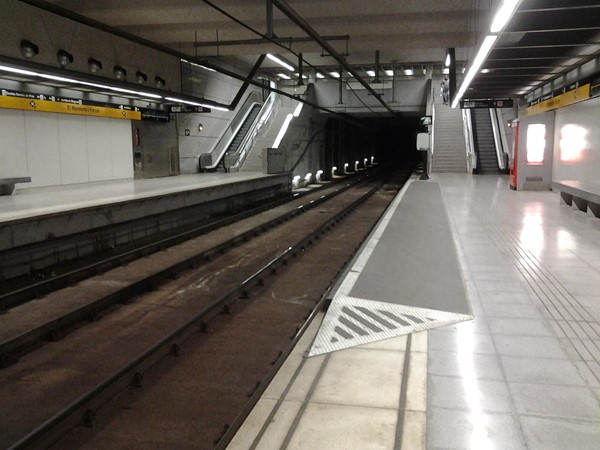Picture of Barcelona - Ramp at Metro stops
