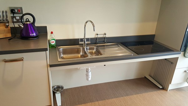 Rise and fall sink/cooker