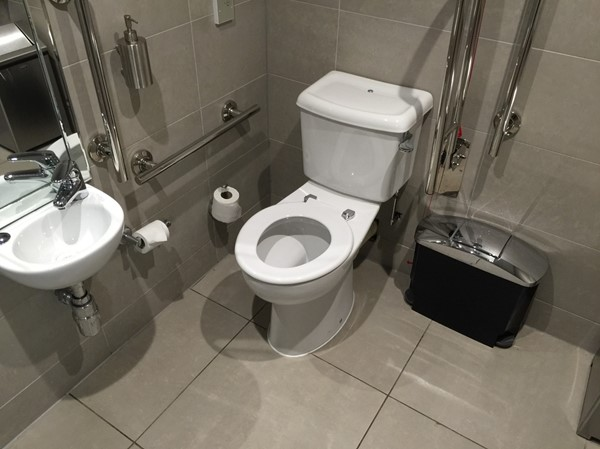 The public accessible toilet in the bar and restaurant area